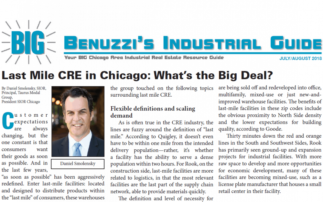 Last Mile CRE in Chicago: What's the Big Deal?