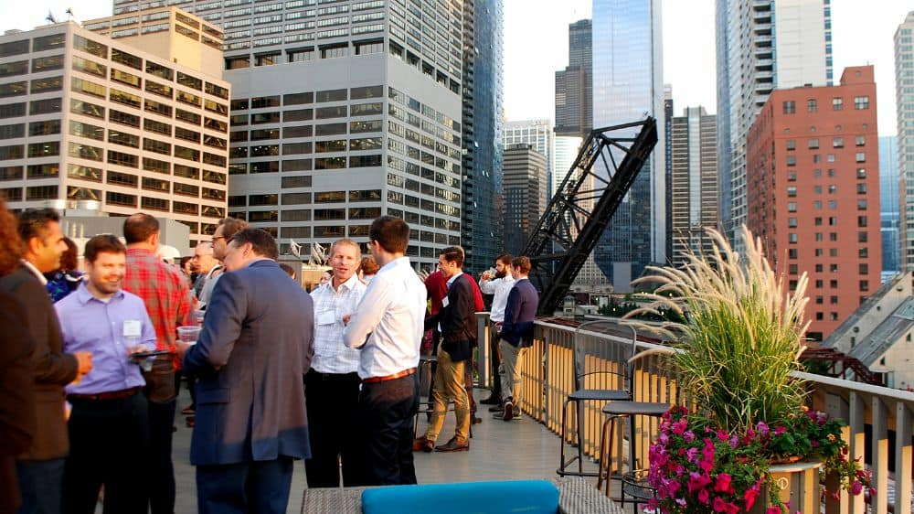 Chicago CRE professionals bid farewell to summer at NAIOP networking event