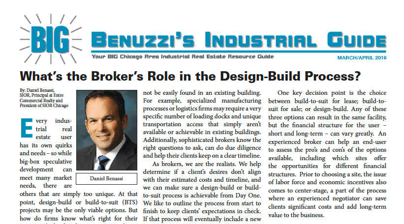 What's the broker's role in the design-build process?