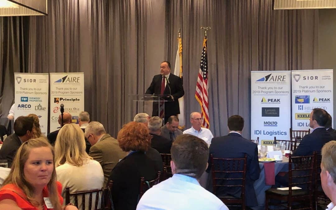 SIOR Chicago hosts new Cook County Assessor Kaegi at spring lunch event